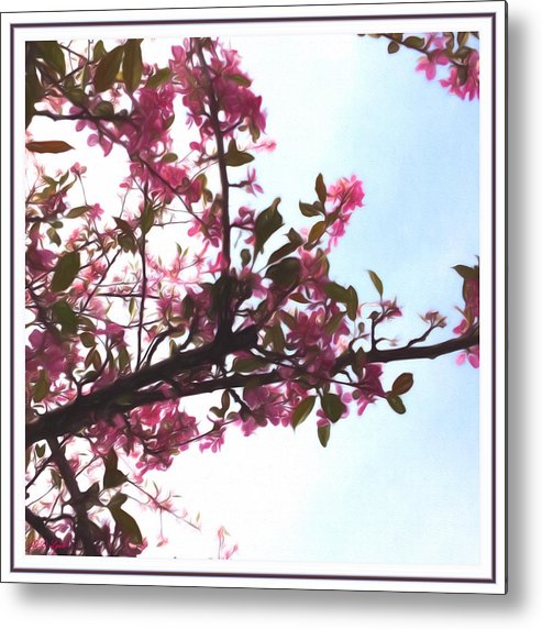 Nature Metal Print featuring the mixed media Spring Time Series Painting by Debra Lynch