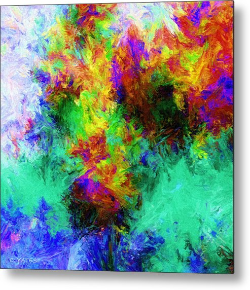 Digital Metal Print featuring the digital art To Vincent V by Charles Yates