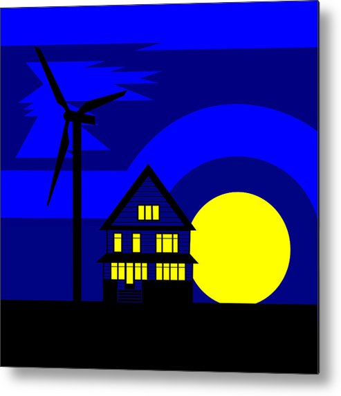 Energy Metal Print featuring the painting Wind And Sun by Asbjorn Lonvig