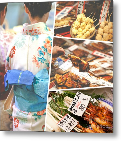 Asian Metal Print featuring the photograph Collage Of Japan Food Images by Mariusz Prusaczyk