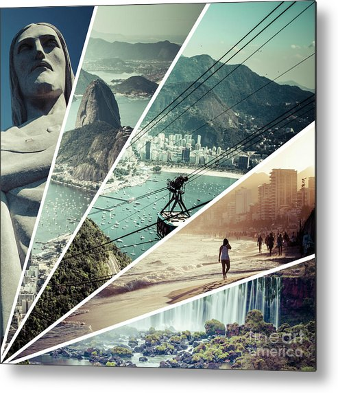 Brazil Metal Print featuring the photograph Collage Of Rio De Janeiro by Mariusz Prusaczyk