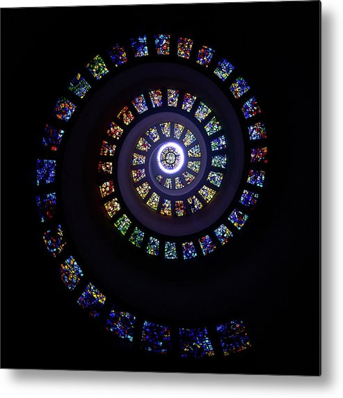 Stained Glass Metal Print featuring the photograph Colorful String Of Diamonds by Janet Chung