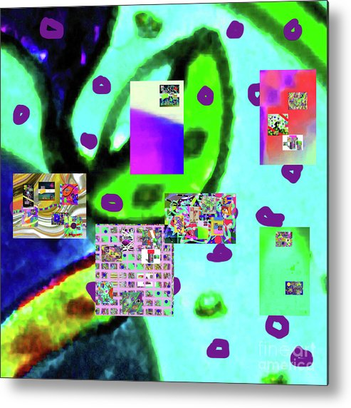 Walter Paul Bebirian Metal Print featuring the digital art 3-3-2016babcdefghijkl by Walter Paul Bebirian
