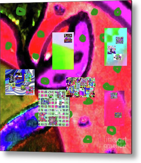 Walter Paul Bebirian Metal Print featuring the digital art 3-3-2016babcdefghijklmnopqrtuvwxyzabcde by Walter Paul Bebirian