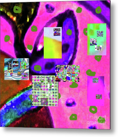 Walter Paul Bebirian Metal Print featuring the digital art 3-3-2016babcdefghijklmnopqrtuvwxyzabcdefgh by Walter Paul Bebirian