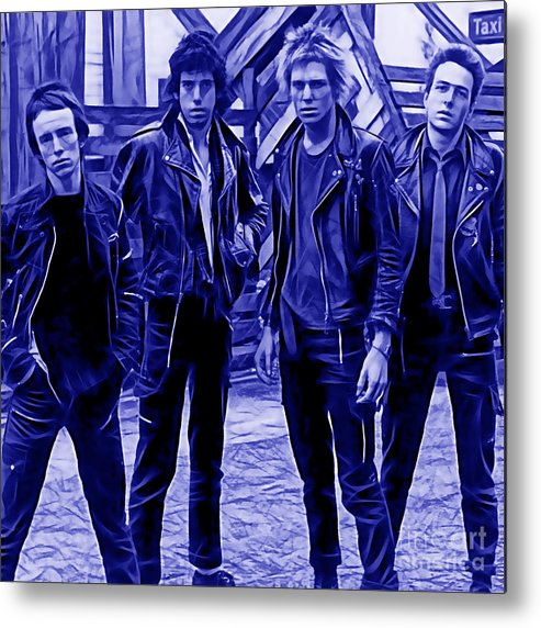 The Clash Metal Print featuring the mixed media The Clash Collection by Marvin Blaine