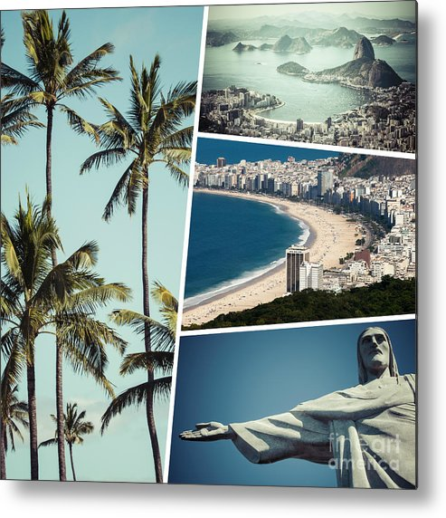 Rio Metal Print featuring the photograph Collage Of Rio De Janeiro by Mariusz Prusaczyk