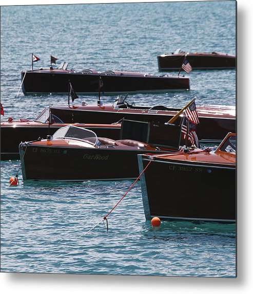 Runabout Metal Print featuring the photograph Classic Wooden Runabouts by Steven Lapkin