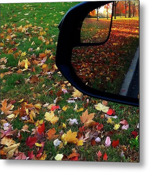 Autumn Metal Print featuring the photograph A Backward Glance by Cheryl Kurman