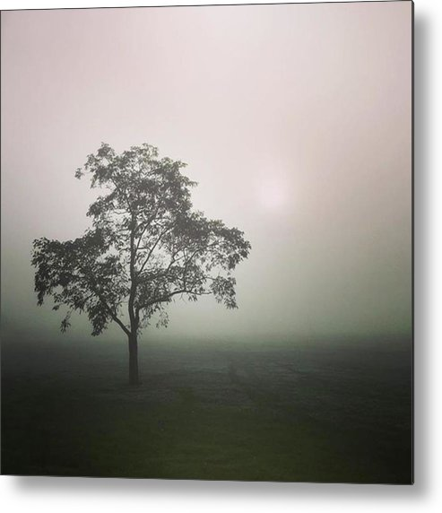Fog Metal Print featuring the photograph A Walk Through The Clouds #fog #nuneaton by John Edwards
