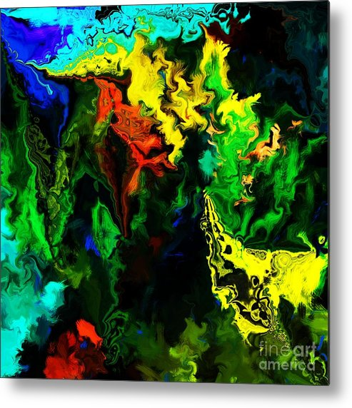 Abstract Metal Print featuring the digital art Abstract 2-23-09 by David Lane