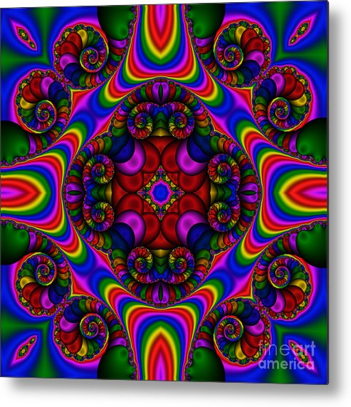 Abstract Metal Print featuring the digital art Abstract 667 by Rolf Bertram