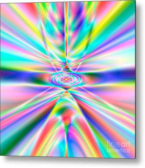 Abstract Metal Print featuring the digital art Abstract 723 by Rolf Bertram