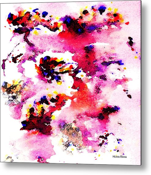 Abstract Art Metal Print featuring the painting Abstract Art by Hema Rana