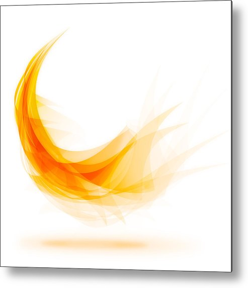 Abstract Metal Print featuring the painting Abstract Feather by Setsiri Silapasuwanchai
