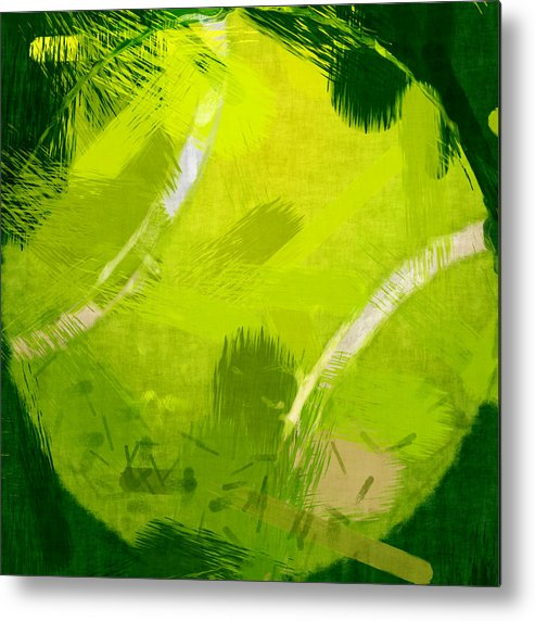 Tennis Metal Print featuring the photograph Abstract Tennis Ball by David G Paul