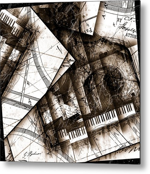 Piano Metal Print featuring the digital art Abstracta 24 Cadenza by Gary Bodnar