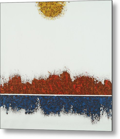 Landscape Metal Print featuring the painting Acebo. by Losang Monlam