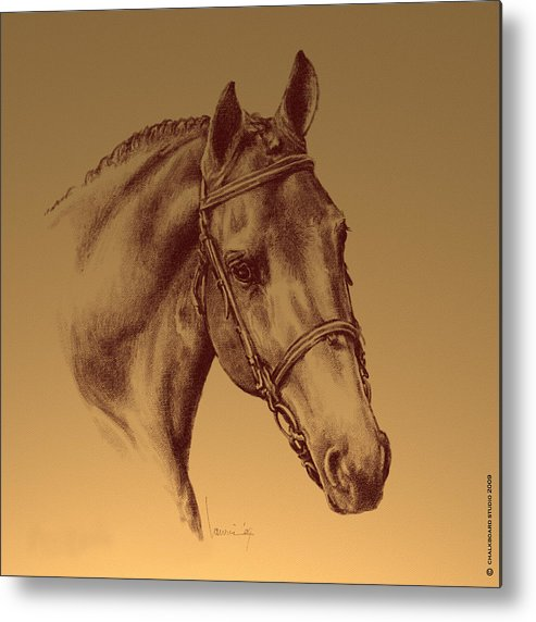 Horse Metal Print featuring the digital art Achilles by Laurie Musser