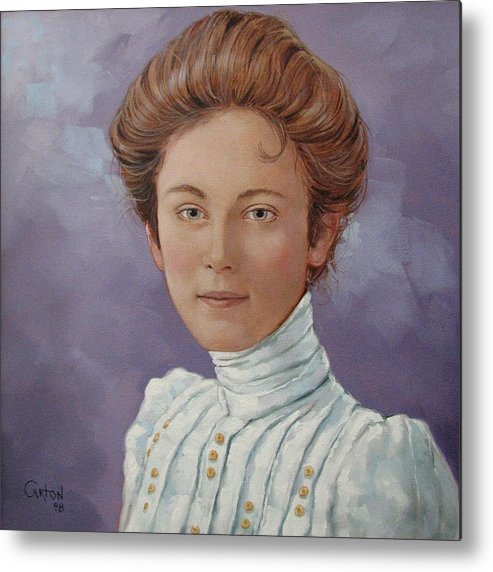 Posthumous Portrait Metal Print featuring the painting Ada Douglas by Jerrold Carton