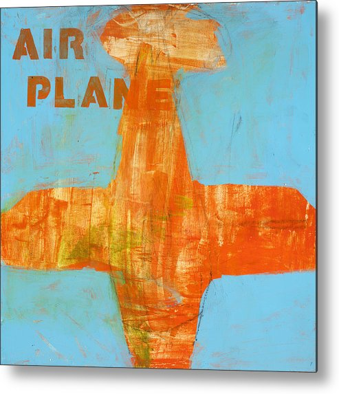 Airplane Painting Metal Print featuring the painting Airplane by Laurie Breen