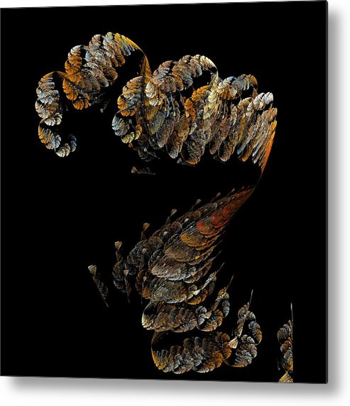 Digital Metal Print featuring the digital art Alien Fungus by Thomas Smith