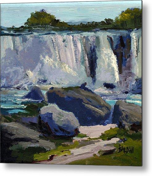 Niagara Falls Metal Print featuring the painting American Falls by J R Baldini