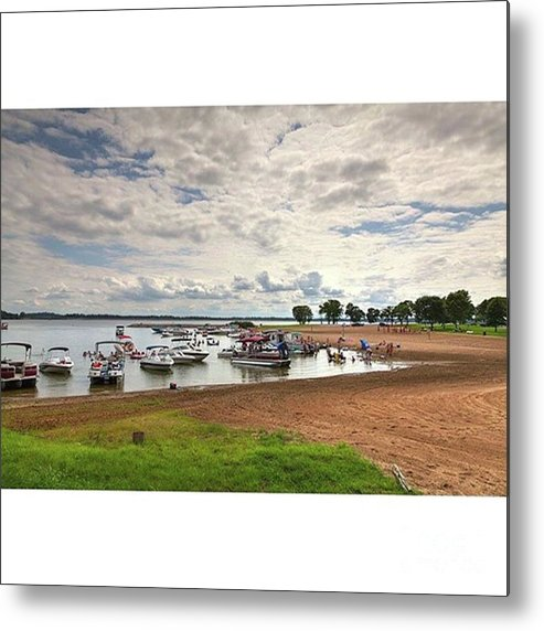 Rendlake Metal Print featuring the photograph Americans At Play  South Marcum by Larry Braun