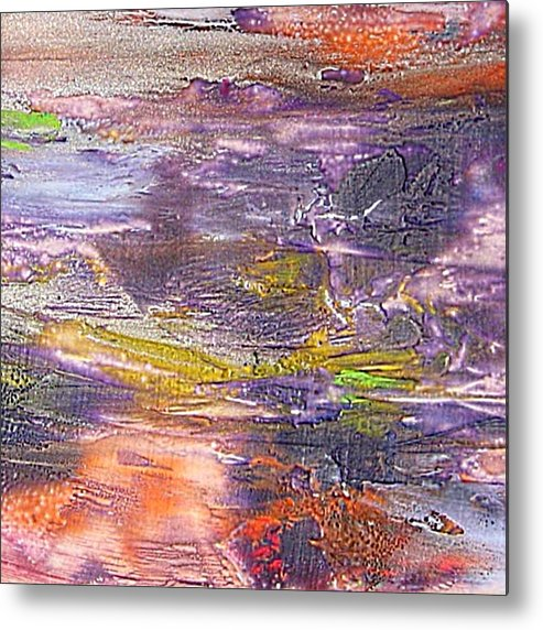 Old Board Metal Print featuring the painting An Old Board by Dragica Micki Fortuna