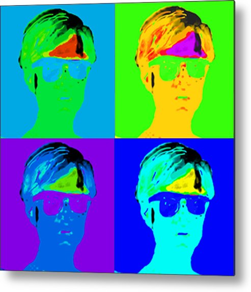 Pop Portrait Metal Print featuring the digital art Andy Is Art by Paul Knotter