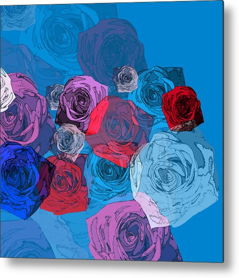 Flowers Metal Print featuring the digital art April Flowers by Magaly Sanchez