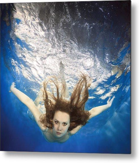 Girl Metal Print featuring the photograph Aqua Marina by Dmitry Laudin