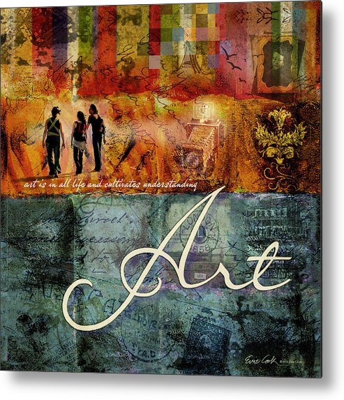 Art Metal Print featuring the digital art Art by Evie Cook