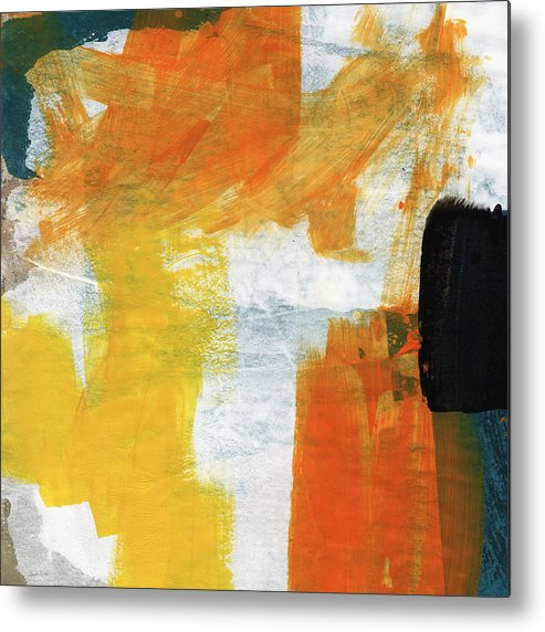 Abstract Metal Print featuring the painting August- Abstract Art By Linda Woods. by Linda Woods