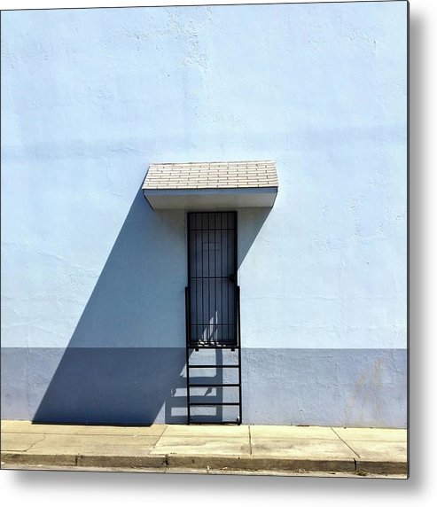 Metal Print featuring the photograph Awning Shadow by Julie Gebhardt