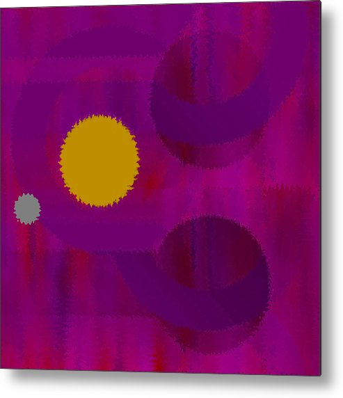 Abstract Metal Print featuring the digital art Be Happy by Ruth Palmer