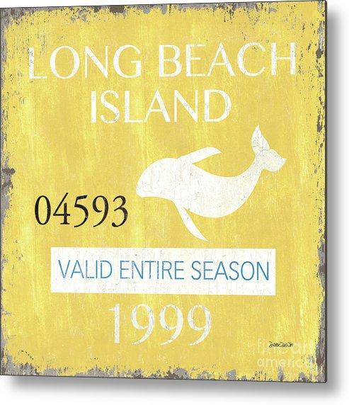 Beach Metal Print featuring the painting Beach Badge Long Beach Island 2 by Debbie DeWitt