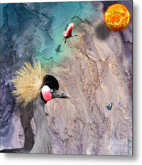 Birds Metal Print featuring the digital art Beautiful Birds by Maria Astedt