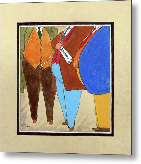 Big Business Metal Print featuring the painting Big Business by Bobby Jones