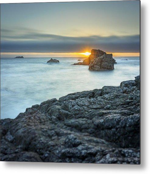 Landscape Metal Print featuring the photograph Big Sur Seascape by Steve Spiliotopoulos
