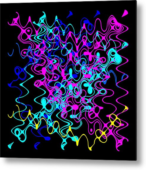 Abstract Metal Print featuring the digital art Bingo1-0-c by Ron Brown