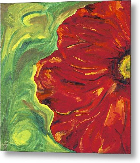 Bloom Metal Print featuring the painting Bloom II by Bernadette Robertson