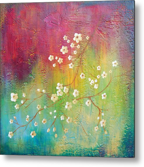 Bright Metal Print featuring the painting Blossom by Joya Paul