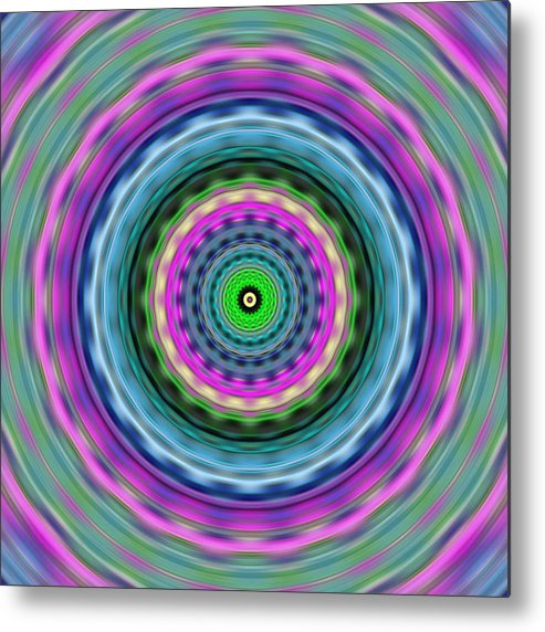 Abstract Metal Print featuring the digital art Blue And Purple Tori Blurred by Ron Brown