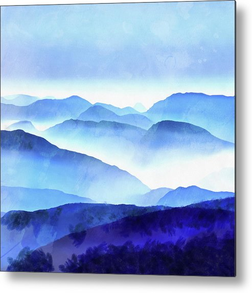 Painting Metal Print featuring the photograph Blue Ridge Mountains by Edward Fielding