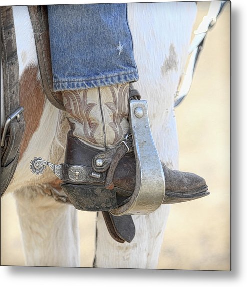 Boot Metal Print featuring the photograph Boot And Spur by Steve McKinzie