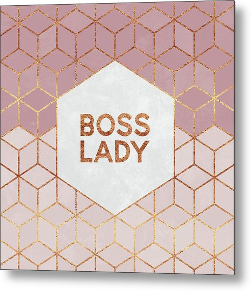 Graphic Metal Print featuring the digital art Boss Lady by Elisabeth Fredriksson