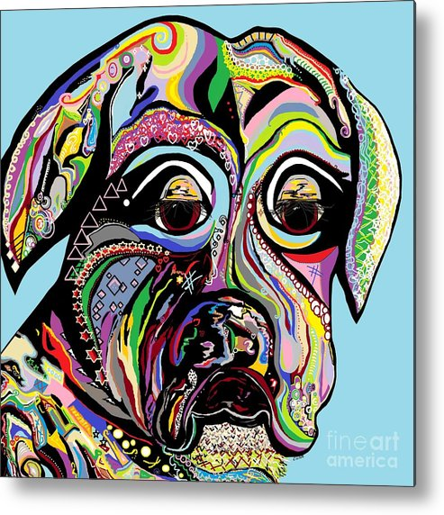Boxer Metal Print featuring the painting Boxer by Eloise Schneider Mote