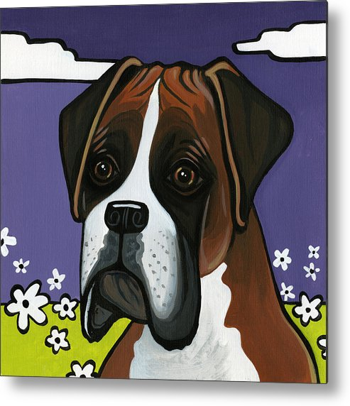 Boxer Metal Print featuring the painting Boxer by Leanne Wilkes