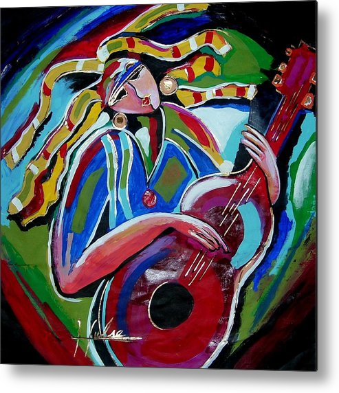 Music Metal Print featuring the painting Breezy by Gina Hulse